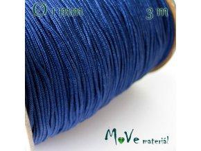 Nylonová pletená šňůra - 1mm/3m, tm. modrá