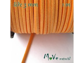 Plochá syntetická kůže, 1m, sv. oranžová