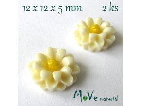 Kabošon E4 - resin - 2ks, vanilkový