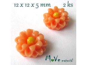 Kabošon E4 - resin - 2ks, meruňkový