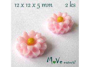 Kabošon E4 - resin - 2ks, sv. růžový