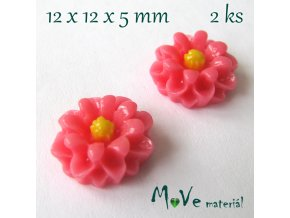 Kabošon E4 - resin - 2ks, tm. růžový