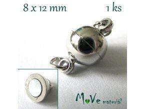 Zapínání magnetické 8x12mm 1ks, platina