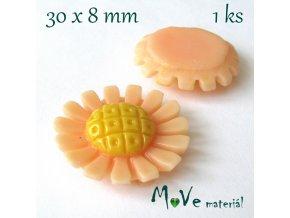 Kabošon kopretina1- resin - 1ks, meruňkový