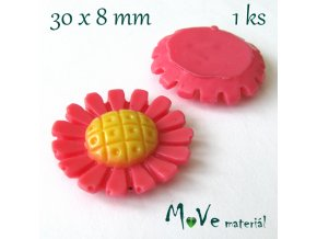 Kabošon kopretina1- resin - 1ks, růžový