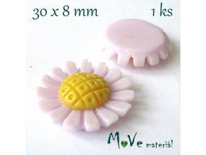 Kabošon kopretina1- resin - 1ks, lila