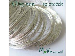 Paměťový drát 65mm balení 10 otoček, stříbrný