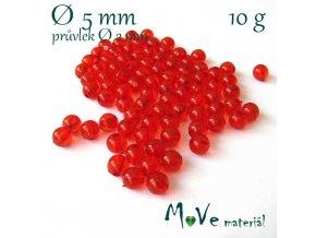 Akrylový korálek červený, 5mm/10g