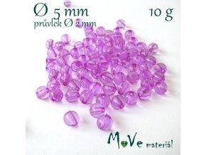 Akrylový korálek růžovofialový, 5mm/10g