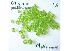 Akrylový korálek zelený, 5mm/10g
