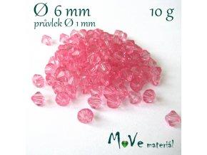 Akrylové sluníčko - broušené, 6mm/10g, růžové