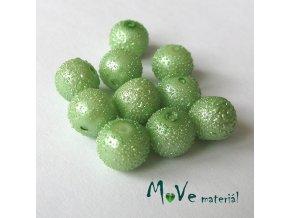 """Voskové perle """"Zigana"""" 8mm, 10ks, sv. zelené"""