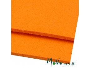Moosgummi 20x30cm, oranžová, 1ks