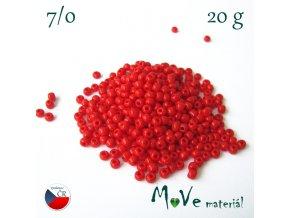 Český rokajl 7/0, 20 g, červený