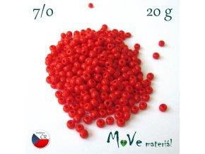 Český rokajl 7/0, 20 g, červený II