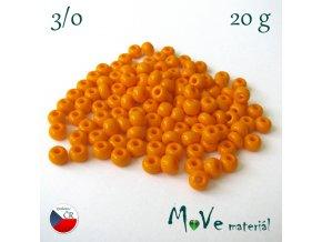Český rokajl 3/0 20g, oranžový