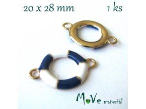 Mezikus KRUH 20x28mm, 1ks, modrý