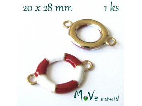 Mezikus KRUH 20x28mm, 1ks, červený