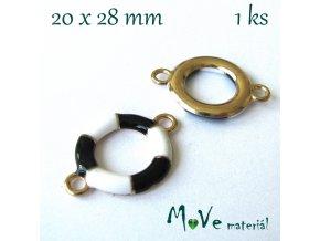 Mezikus KRUH 20x28mm, 1ks, černý