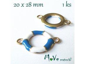 Mezikus KRUH 20x28mm, 1ks, sv. modrý