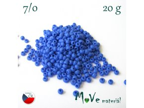 Český rokajl 7/0, 20 g, modrý