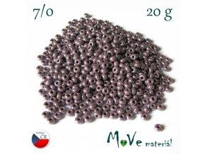 Český rokajl 7/0, 20 g, fialový s kovovým leskem