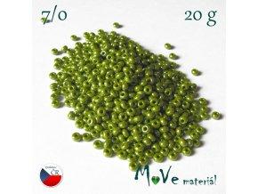 Český rokajl 7/0, 20 g, olivový s kovovým leskem