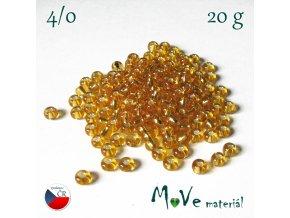 Rokajl korálky české, průměr cca cca 4,6mm - 5/0, balení 20 g