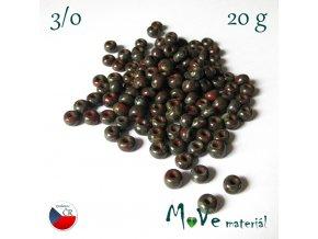 Český rokajl 3/0, 20 g, travertin