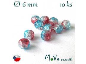 České praskačky korálky 6mm 10 ks