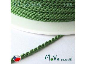 Kroucená šňůra 2,8mm /1m, zelená