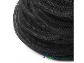 Modistická krinolína dutinka 4mm, 1m, černá