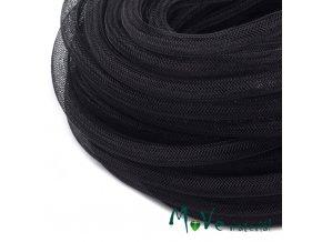 Modistická krinolína dutinka 8mm, 1m, černá