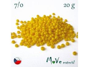 Český rokajl 7/0, 20 g, žlutý