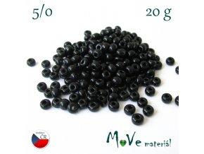 Český rokajl 5/0, 20 g, černý