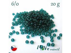 Český rokajl 6/0, 20 g, zelený