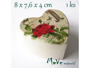 Dřevěná krabička na šperky - 8x7,6x4,6cm, věž v Pise