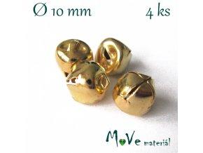 Rolničky zlaté 10mm, 4ks