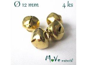 Rolničky zlaté 12mm, 4ks