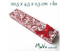 Krabička na šperky - 20,5x4,5x2,5cm, hnědá