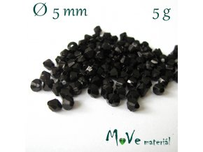 Korálek plast - sluníčko 5mm, 5g, černé