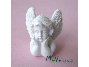 Andělíček zadumaný - dekorace