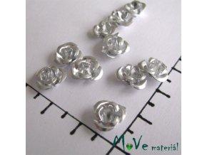 Korálek růžička 10mm, 10ks stříbrná
