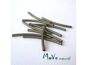 Korálek kovový 30x2mm trubička, 10ks