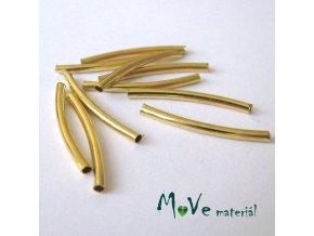 Korálek kovový 25x2mm trubička, 10ks