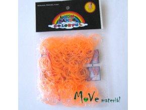 Sada gumiček, fluorescenční oranžová