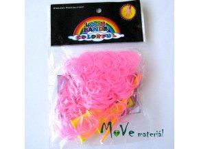 Sada gumiček, fluorescenční růžová