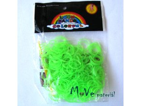 Sada gumiček, fluorescenční zelená