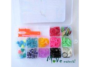 Box gumiček a korálků, 1box
