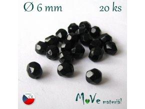 České ohňovky 6mm/20 ks, černé